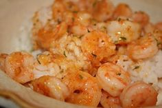 A nice spicy main dish shrimp dish, with a touch of citrus.