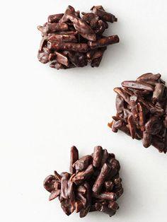 Chocolate-Pretzel Clusters