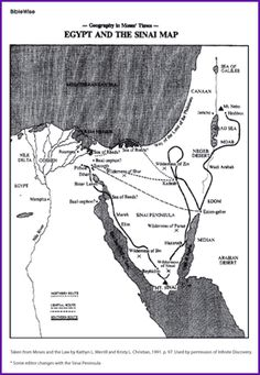 Egypt and the Sinai Map