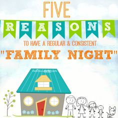 """A Really Fun DIY idea for your next family night + Good reasons for having a """"family night"""" in the first place!"""