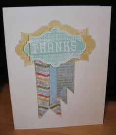Epic Day This and That DSP Thank YOU Banner Card stampin'Up! Everything Eleanor