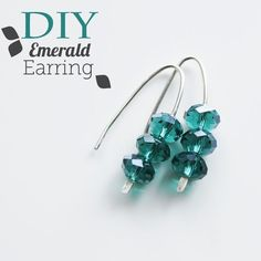 These Enchanting Emerald earrings are the perfect alluring hue for the holiday season. You can make a quick pair for a holiday party, or for a DIY gift.
