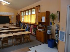 waldorf classroom curtains
