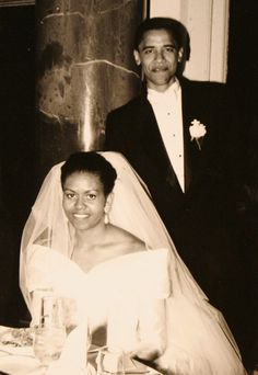 After dating for three years, Michelle and Barack tied the knot on October 3, 1992. A lifelong fashion lover, Michelle Obama was stunning in an off-the-shoulder duchess satin gown with a sweetheart neckline. She accessorized the dress, which also featured floral appliqués, with a princess-length veil and opera gloves.