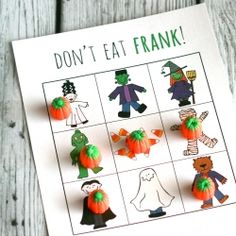 """""""Don't Eat Frank"""" - our Halloween version of the kids game {Don't Eat Pete}, perfect for parties and classrooms."""