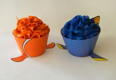 Finding Nemo Cupcakes Clown Fish and Dori Fish Cupcake Wrappers and Toppers