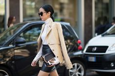 No. 2 - PART 3 Yoyo Cao This year it seems like people whipped out their most luxurious pieces for Milan. First there were the mink Birkenstocks, and now there's Cao, who wore head-to-toe Ferragamo (and a pale crocodile leather jacket that looks incredibly buttery.)  We love women who don't hold back.