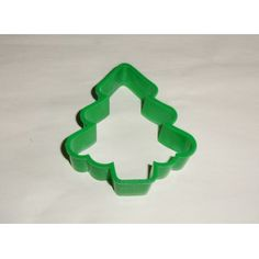 1981 Hallmark Green Christmas Tree Shaper Cookie Cutter Plastic