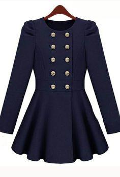 super cute classic marine dress, perfect buttons!