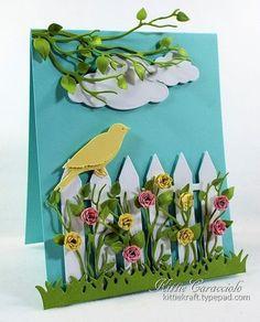 Bird and Rose Garden - made by kittie747