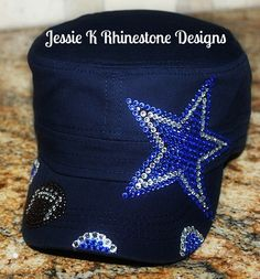 DALLAS COWBOYS BLING CADET HAT. To order click on the link above