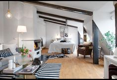 Small Spaces: A 470-Sq-Ft Loft in Sweden