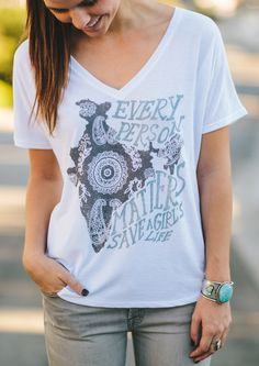 Did you know that in India millions of girls are being murdered... just because they're female? It's called gendercide and it has to stop! Each shirt sold donates $7 to Invisible Girl Project to protect girls who are at risk of being abandoned or killed. #Sevenly