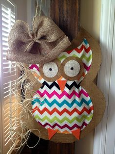 Owl Door Hanging Decoration - Wreath - Baby Shower - Holiday Decor - Fall on Etsy, $35.00