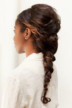 Protective style natural hair