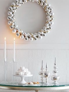Easy Ornament Wreath