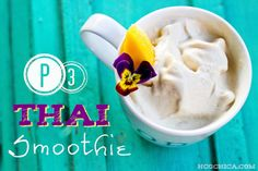P3 THAI inspired smoothie recipe for the Phase 3 of the hCG Diet- with lemongrass and coconut!  Sugar free, paleo friendly,