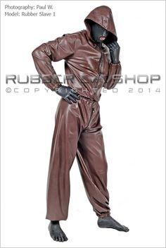 Hooded Rubber Jogging Suit With Hood Flap - Mens Suits - Rubber Eva Shop