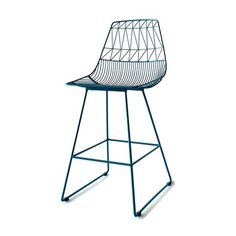 peacock blue metal bend lucy counter stool