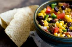 Black Bean Salsa...I use more lime appet, black beans, stuff, food, corn salsa, bean salsathi, yummi black, tasti recip, salsa recip