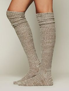 Free People Hand Knit Marl Thigh Hi