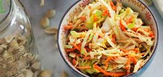 Peanut Cole Slaw (It's Delicious & Vegan!) Peanut Coleslaw, Vegan ...