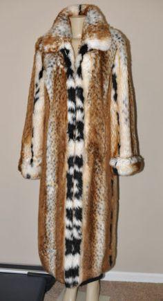 Pamela McCoy Lynx Leopard Faux Fur Full Length Coat Maxi Swing Retailed for $289 | eBay
