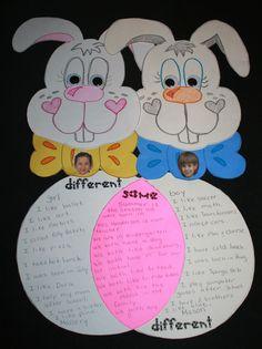 Classroom Freebies: Bunny Venn Friends
