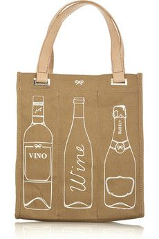 ANYA HINDMARCH Wine canvas tote