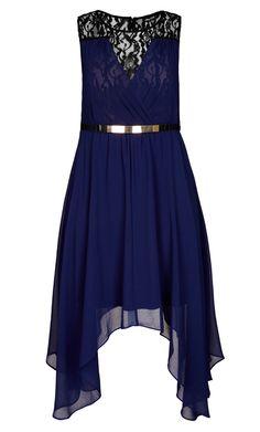 City Chic - LAYER KEYHOLE DRESS - Women's Plus Size Fashion  #plussize
