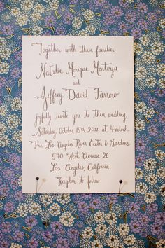 Elegant calligraphy invitations by http://paperpastries.bigcartel.com/  Photography by http://erinheartscourt.com