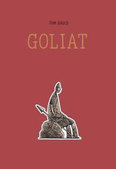 """""""Goliat"""" ten como protagonista ao xigante bíblico homónimo, e o seu argumento vira ao redor da loita co pequeno David, que como sabemos culmina coa morte do primeiro, abatido pola fonda do israelita. O que interesa a Gauld non é a loita en si, senón indagar na personalidade do perdedor, esa pequena nota ao pé de páxina na Biblia cuxo único labor é engrandecer a figura do seu opoñente. Gauld alíñase cos perdedores e afánase en mostrar o lado humano dun xigante nada monstruoso e moito menos fero"""