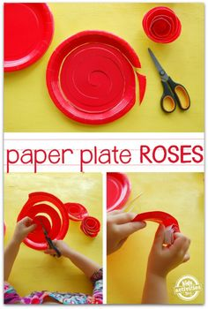 Paper Plate Roses
