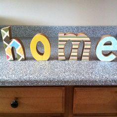 Modge podge on wood letters