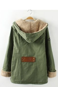 Cozy Army Green Coat