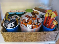 Great solution for deep pantry shelves, plus it will help us with packing lunches/snacks this school year (x3)