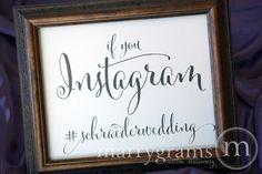 Wedding Reception Instagram Sign  Social Media by marrygrams, $8.00