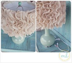 DIY Ruffled Fabric Lamp Shade