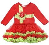 Girls Rare Editions Ribbon Present Tutu Holiday Dress 2T (H757512) $32.99