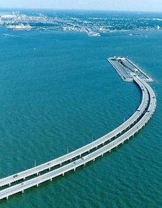 Denmark To Sweden, underwater bridge.
