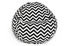 Small Zigzag Beanbag, Black on OneKingsLane.com