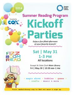 May 31, 2014: Summer Reading Program Kickoff Parties #SRP2014