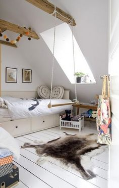 What kid wouldn't love to have that swing in their room?!