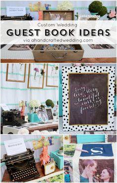 Custom Wedding Book Ideas via ahandcraftedwedding.com