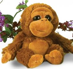 """7"""" Bright Eyes Sitting Boy Orangutan at theBIGzoo.com, a toy store with over 12,000 products."""