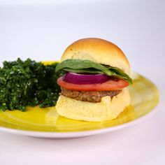Quinoa Black Bean Sliders & Kale Salad