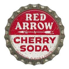 Red Arrow Bottle Cap