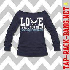 Love Is All You Need - Airforce Girlfriend Sweater on Etsy, $50.00