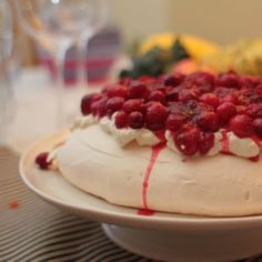 Cranberry - Vanilla Pavlova Recipe