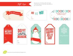 lemon squeezy: Day Four: Dangly Gift Tags